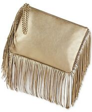Britney Spears Metallic Gold Fringe Large Clutch Bag Fragrance Promotion