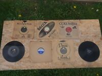 Lot Of 1920s 1930s Thick Vinyl Records