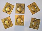 EAGLE double SWITCH PLATE military MARINE or ARMY 6 vintage BRASS raised relief