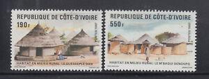 Ivory Coast 1987 Rural Housing  Sc 828-829  MLH