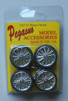 CHROME BLINGZ RIMS TIRES PEGASUS 1:24 1:25 CAR MODEL ACCESSORY 2365