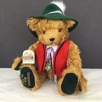 Hermann Mohair Teddy Bear RARE 75th Memory Musical Oktoberfest  Germany Stein