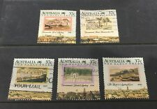Australian 1988 The Early Years Of Settlement  set of 5 Square Sheet stamps used