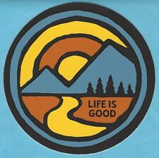 "NEW LIFE IS GOOD 4"" STICKER DECAL...SUNSET ROAD LANDSCAPE!!"