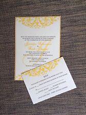 Cream and Gold Layered Wedding Invitation Set With Envelopes