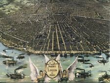 Post Card Reproduction Of Vintage Map Of Saint Louis In 1896