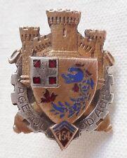Insigne boutonnière 1939 ARTILLERIE 154° RAP  FORTERESSE MAGINOT ORIGINAL WWII