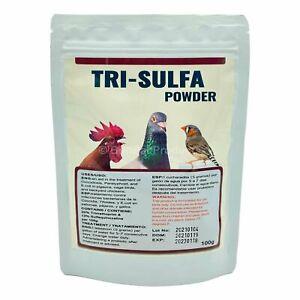 Tri-Sulfa Powder for Cage & Aviary Birds, Pigeons, & Backyard Chickens