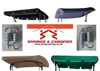 Garden swing Spare parts replacement canopy & springs different sizes & styles 4