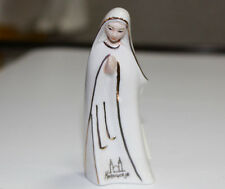 """Porcelain Statue Virgin Mary Our Lady Mother Of Jesus white Medjugorje 3.66"""""""