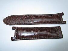 Cartier Pasha Genuine Alligator 20 x 18mm Watch Band (Brown)