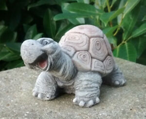 Smiley Tortoise (Medium) - Garden Ornament  - Hand Cast