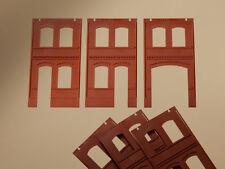 Auhagen H0 Système modulaire 80507: 6 Cloisons 2322B,2322C, 2323C, rouge