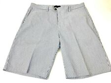 "BANANA REPUBLIC Emerson Seersucker Short Casual Mens Size 36 Blue Striped 11"" In"
