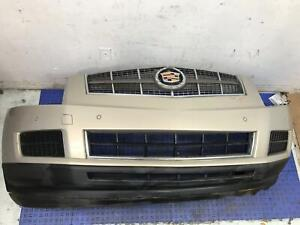 2010 CADILLAC SRX FRONT BUMPER COVER W/O FOG LAMPS W/PARK ASSIST *CRACKED TAB*