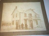 Rare Antique Victorian American Winter Railroad Hotel Advertising Cabinet Photo!