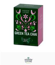 12 x 20 tea bags HIGHER LIVING Organic Green Tea Chai ( 240 teabags ) FREE POST