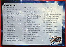 Terry Nation's BLAKE'S 7 - Card #54 - Checklist - Unstoppable Cards 2013