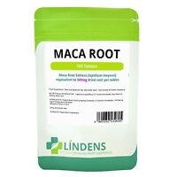 Lindens Maca Root Extract 500mg 2-PACK 200 Tablets Lepidium Meyenii Natural