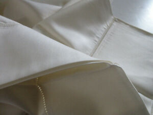 NWT Le Telerie Toscane Standard Pillow Case Set of 2 Beige Ecru Made in Italy