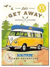 Volkswagen Let's Get Away steel fridge magnet (na)