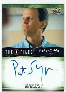 X Files UFOs & Aliens Autograph Card A-PS Pat Skipper as Bill Scully Jr.