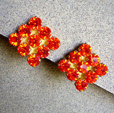 628 /  SCOOTER / BOUCLES D'OREILLE CLIPS STRASS ROUGES