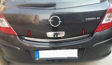Modanatura acciaio cromo cromata portellone SPECIFICA Opel Corsa D Baule Profilo