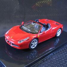 1:43 Hot Wheels Ferrari 458 Spider Elite Die Cast Model Car with Box