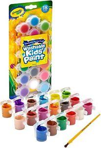 Crayola Washable Kids Paint Set & Paintbrush, Painting Supplies 18 Count 54-0125