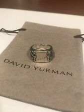 David Yurman Sterling Silver Mens Petrvs Dragon Griffin Signet Ring Size 9