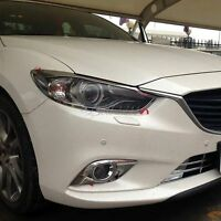 For MAZDA 6 ATENZA 2014 2015 2016 chrome ABS Front head Light lamp Cover trim