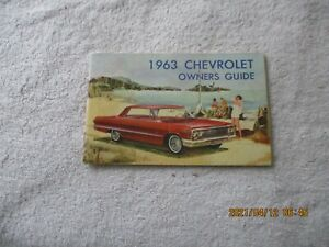 NICE USED 1963 CHEVROLET IMPALA. BELAIR, BISCAYNE, STATION WAGON OWNERS MANUAL