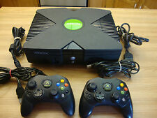 XBOX SYSTEM COMPLETE WITH TWO ORIGINAL BLACK CONTROLLERS