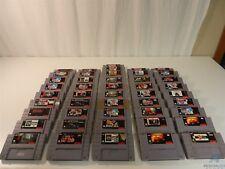 Lot of 46 Super Nintendo SNES Games - Revolution X, Cliffhanger, Zoop, Madden 93