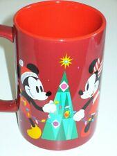 Disney Store MICKEY MOUSE CHRISTMAS Mug Minnie Mouse/Pluto/Holidays