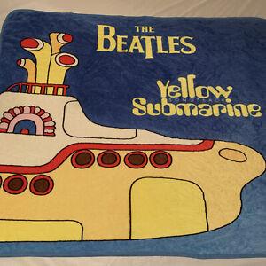 Vintage The Beatles Yellow Submarine Band Blanket Rare