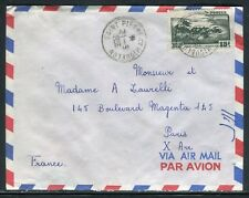 Saint Pierre et Miquelon - Enveloppe pour Paris en 1956 - ref D177