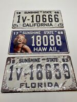 American USA licence plate vintage look repro Great look wall Man cave free post