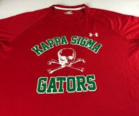 Kappa Sigma Shirt Mens XL Under Armour Heat Gear #15 Fraternity Skull Gators