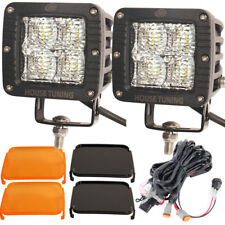 House Tuning 3x3 LED Cube Work Light Wiring Harness kit 20W Flood for Off Road