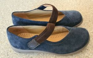 Hotter Wren Navy Suede Shoes Size 3