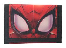 Marvel Spiderman My Eyes Design Red Tri-Fold Childrens Wallet Hook & Loop