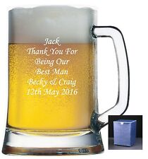 Personalised 1 Pint Glass Tankard Engraved Retirement Present Free Gift Box Lh