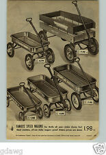 1949 PAPER AD Wagon Coaster Husky Radio Flyer Special Chieftain Rolls Racer