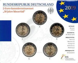 2 EURO COMMÉMORATIVE D'ALLEMAGNE 2019 BU - 30 ANS DE LA CHUTE DU MUR DE BERLIN
