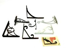 Mixed Antique & Vintage Lot Metal Iron Shelf Right Angle Brackets Plant Hangers