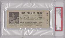 11/24/1956 Elvis Presley Concert Full Ticket - Hobart Arena, OH - PSA 4 (VG-EX)