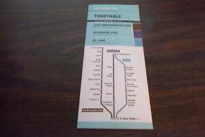 SEPTEMBER 2013 LOS ANGELES METROLINK SAN BERNARDINO/RIVERSIDE LINE TIMETABLE