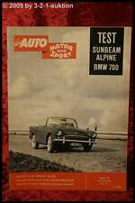 AMS Auto Motor Sport 7/60 BMW 700 Sunbeam Alpine Falcon